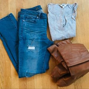Lauren Conrad Distressed Skinny Jeans